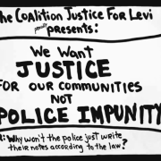 video we want justice for our communities not police impunity